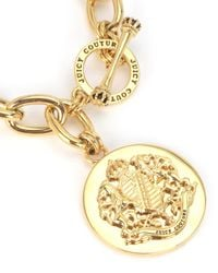 Juicy Couture | Metallic Gold Medallion Chain Bracelet | Lyst