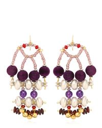 Anita Quansah London | Purple Enya Earrings | Lyst