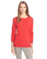 Equipment | Red 'sloane' Crewneck Cashmere Sweater | Lyst