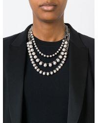Lanvin - Metallic Kristen Pearl Necklace - Lyst