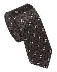 Remus Uomo Gray Block Patterned Tie for men