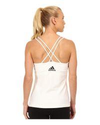 Adidas | White All Premium Strappy Tank | Lyst