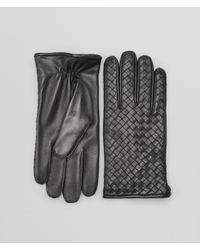 Bottega Veneta - Gray Dark Grey Intrecciato Soft Nappa Gloves for Men - Lyst