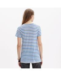 Madewell | Blue Anthem Short-sleeve Scoop Tee In Stripe | Lyst