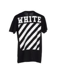 Off-White c/o Virgil Abloh | Black T-shirt for Men | Lyst