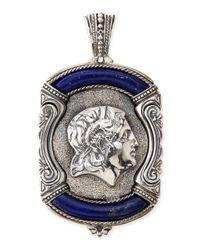 Konstantino | Blue Mens Sterling Silver & Lapis Greek Pendant for Men | Lyst
