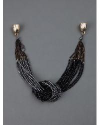 Rosantica | Black Beads Necklace | Lyst