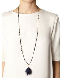Isabel Marant - Blue Dodge Feather and Crystal Necklace - Lyst