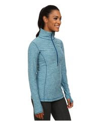 New Balance - Blue In Transit Half Zip Jacket - Lyst