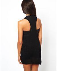 Shae - Black Linen Blend Sleeveless Dress - Lyst