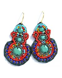 Peyton William Handmade Jewelry | Multicolor Handmade Woven Ethnic Earrings | Lyst