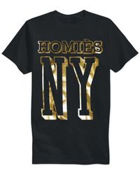 Reason | Black Homies Foiled T-shirt for Men | Lyst