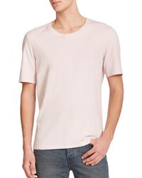 BLK DNM - Pink Cotton Crewneck Tee for Men - Lyst