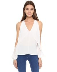 Dion Lee - White Blouson Sleeve Release Top - Lyst