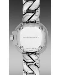 Burberry Brit - Gray The Britain Bby1953 26mm Diamond Indexes - Lyst