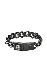 DIESEL - Gray Bracelet Dx0901 for Men - Lyst