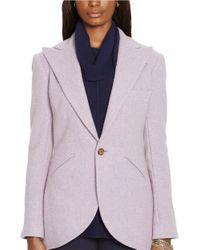 Lauren by Ralph Lauren | Purple Wool Blazer | Lyst