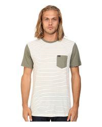 RVCA - Green Change Up Crew for Men - Lyst