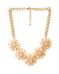 Forever 21 - Orange Fancy Floral Bib Necklace - Lyst
