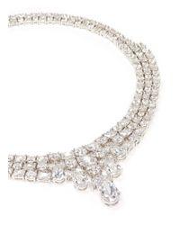 CZ by Kenneth Jay Lane | Metallic Multi Cut Cubic Zirconia Collar Necklace | Lyst
