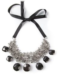 By Malene Birger - Metallic Olias Stone Necklace - Lyst