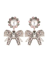 Miu Miu | Metallic Embellished Clip-on Earrings | Lyst