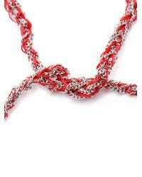 Carolina Bucci | Purple 'heart' White Gold And Silk Woven Friendship Bracelet | Lyst