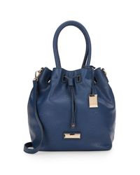 Catherine Malandrino - Blue Elena Faux Leather Bucket Bag - Lyst