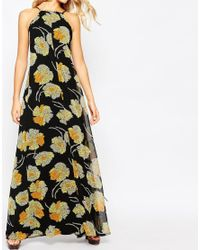 ASOS - Multicolor Cross Back Strap Floral Maxi Dress - Lyst