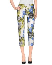 MSGM | White 3/4-length Trousers | Lyst