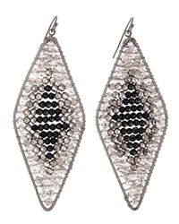 Nakamol | Metallic Ombre Beaded Rhombus Earrings | Lyst