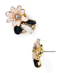 kate spade new york | Multicolor Glossy Petals Cluster Stud Earrings | Lyst