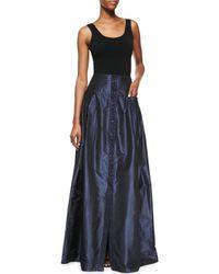 Carolina Herrera - Blue Taffeta Ball Gown Skirt - Lyst