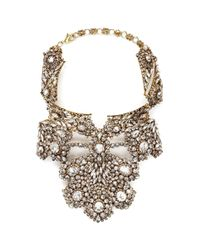 Erickson Beamon | Metallic 'temptress' Crystal Plastron Necklace | Lyst