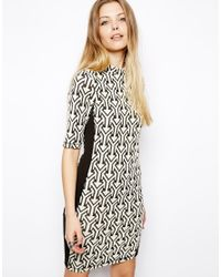 ASOS - Multicolor Bodycon Dress Arrow Jacquard - Lyst