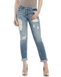 Eunina - Blue Comfort Skinny Crop Jeans - Lyst