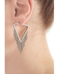 Marc By Marc Jacobs | Metallic Earrings With Chain Detail - Silver | Lyst