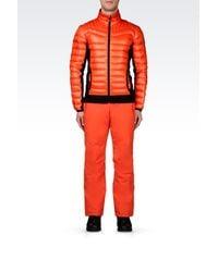 EA7 | Orange Down Coat for Men | Lyst