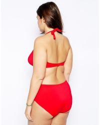 ASOS - Pink Exclusive Bandeau Bikini Top - Lyst