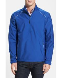 Cutter & Buck - Blue 'beacon' Weathertec Wind & Water Resistant Jacket for Men - Lyst