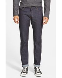 Williamsburg Garment Company - Blue 'south 4th Street' Skinny Fit Jeans for Men - Lyst