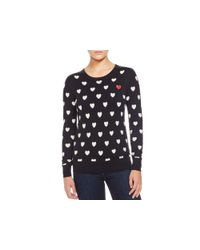 French Connection - Black Broken Heart Long Sleeve Sweater - Compare At $118 - Lyst