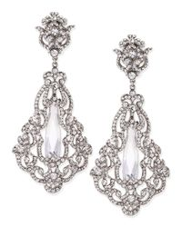 Jose & Maria Barrera | Metallic Crystal & Cubic Zirconia Clip-on Earrings | Lyst