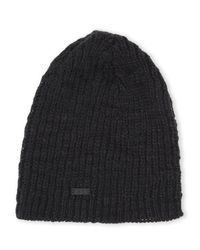 John Varvatos | Black Slouchy Knit Beanie for Men | Lyst