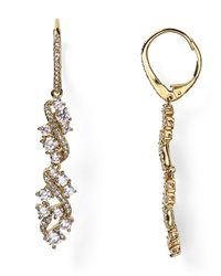 Nadri | Metallic Cluster Leverback Drop Earrings | Lyst