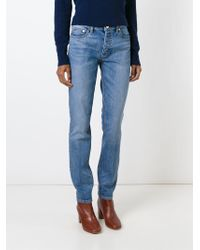 Tory Burch - Blue Boyfriend Slim Jeans - Lyst
