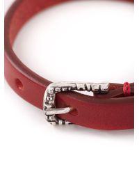 DIESEL - Red 'Amar' Bracelet for Men - Lyst