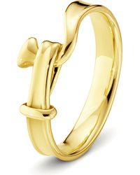Georg Jensen | Metallic Torun 18ct Yellow-gold Ring | Lyst