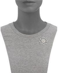 Nadri | Metallic Snowflake Cubic Zirconia Brooch | Lyst