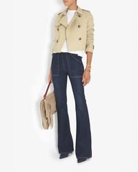 Each x Other - Natural Cropped Trench Coat J/o Dec Wk 2 - Lyst